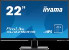 Ecran plat LED 22 pouces 1920 x 1080 Multimédia, qualité IPS LED-Blacklit, 5 ms, iiyama VGA, DVI & HDMI noir