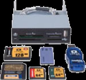 photo Lecteur de cartes mémoires 32/1 USB 3.0 + 1 port USB 3.0